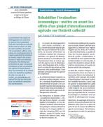 Réhabiliter l'évaluation économique : mettre en avant les effets d'un projet d'investissement agricole sur l'intérêt collectif