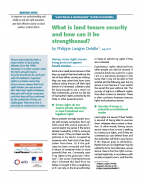 What is land tenure security and how can it be strengthened?