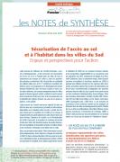 Note de synthèse n°25 : Sécurisation de l'accès au sol et à l'habitat dans les villes du Sud : enjeux et perspective pour l'action