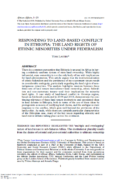 Responding to land based conflict in Ethiopia : the land rights of ethnic minorities under federalism