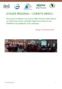 Poursuivre la réflexion sur la sécurisation foncière (dans toutes ses dimensions) dans la grande irrigation au Sahel en vue d'améliorer les politiques et les pratiques