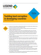 Tackling land corruption in developing countries