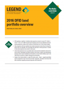 2016 DFID Land Portfolio Overview