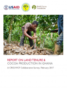 Report on land tenure and cocoa production in Ghana