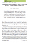 Contractual Practice and Land Conflicts: The 'Plant & Share' Arrangement in Côte d'Ivoire