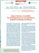 Note de synthèse n°23 :  Enjeux fonciers et modèles de développement sur les périmètres irrigués en Afrique de l'Ouest