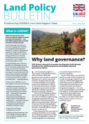 Nouveau bulletin d'information : Land Policy Bulletin (DFID)
