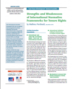 Strenghts and Weaknesses of International Frameworks for Tenure Rights