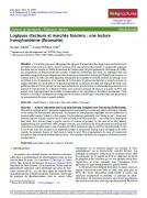 Logiques d'acteurs et marchés fonciers : une lecture transylvanienne (Roumanie)