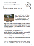 Les titres de plus de 10 ha au Niger