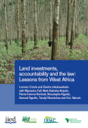 Land investments, accountability and the law : Lessons from West Africa