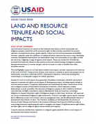 Land tenure and ressource tenure and social impacts