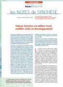 Note de synthèse n°20 : Enjeux fonciers en milieu rural, conflits civils et développement