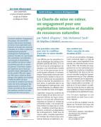 La Charte de mise en valeur, un engagement pour une exploitation intensive et durable de ressources naturelles