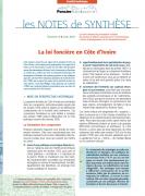 Note de synthèse n°8 : La loi foncière en Côte d'Ivoire