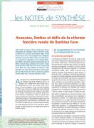 Note de synthèse n° 15 : Avancées, limites et défis de la réforme foncière rurale du Burkina Faso