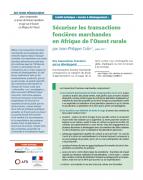 Sécuriser les transactions foncières marchandes en Afrique de l'Ouest rurale
