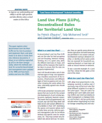 Land Use Plans (LUPs), Decentralised Rules for Territorial Land Use