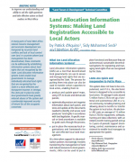 Land Allocation Information Systems : Making Land Registration Accessible to Local Actors