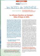 Note de synthèse n°18 – La réforme foncière au Sénégal : bilan d'étape et défis