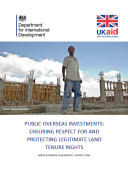 Public overseas investments : ensuring respect for and protecting legitimate land tenure rights. A Rapid Evidence Assessment