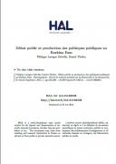 Débat public et production des politiques publiques au Burkina Faso : la politique nationale de sécurisation foncière