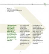 la sécurisation foncière et les mesures d'incitation aux investissements dans les systèmes sociaux matrilinéaires