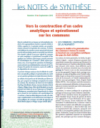 Note de synthèse n°19 : Vers la construction d'un cadre analytique et opérationnel sur communs