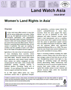Women's land rights in Asia