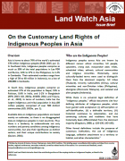 On the customary rights of indigenious peoples in Asia
