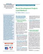 Rural Development Project : Land Matters!