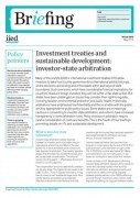 Investment treaties and sustainable development: investor-state arbitration