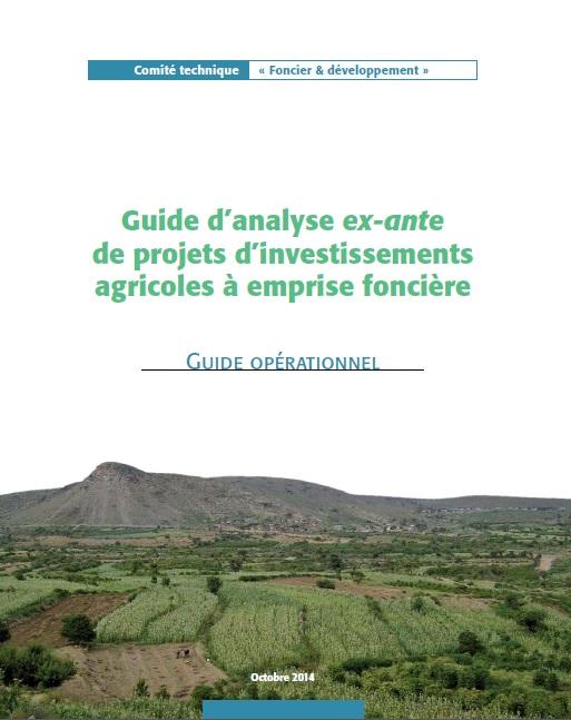 Guide d'analyse ex-ante de projets d'investissements agricoles à emprise foncière