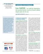 Les SAFER : un outil de régulation du marché foncier rural en France utilisé depuis plus de 50 ans