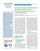 Analyse des projets d'investissements agricoles à emprise foncière : des principes internationaux aux outils opérationnels