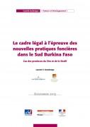 Le cadre légal à l'épreuve des nouvelles pratiques foncières dans le Sud Burkina Faso