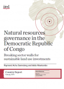 Natural resources governance in the Democratic Republic of Congo