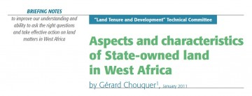 Aspects and characteristics of State-owned land in West Africa