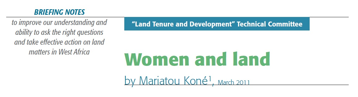 Women and land