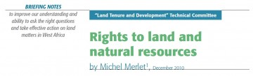 Rights to land and natural resources