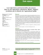 Les trajectoires professionnelles des jeunes dans la néo-agriculture saharienne (Biskra, Algérie) revisitées par la théorie de l'agricultural ladder