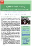 Myanmar Land briefing n°4