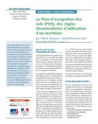 Le Plan d'occupation des sols (POS), des règles décentralisées d'utilisation d'un territoire