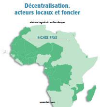 Décentralisation, acteurs locaux et foncier : Fiches pays