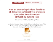 Mise en oeuvre d'opérations foncières et démarche participative : pratiques comparées Nord-Cameroun et Ouest du Burkina Faso