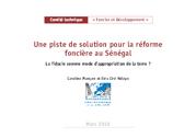 Une piste de solution pour la réforme foncière au Sénégal. La fiducie comme mode d'appropriation de la terre?