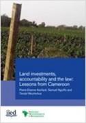 Investissements fonciers redevabilité et cadre légal: leçons du Cameroun