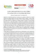 Publication de deux policy briefs sur les marchés fonciers et les liens entre foncier et eau en Algérie