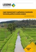 Legal empowerment in agribusiness investments: harnessing political economy analysis