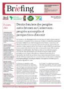 Droits fonciers des peuples autochtones au Cameroun : progrès accomplis et perspectives d'avenir